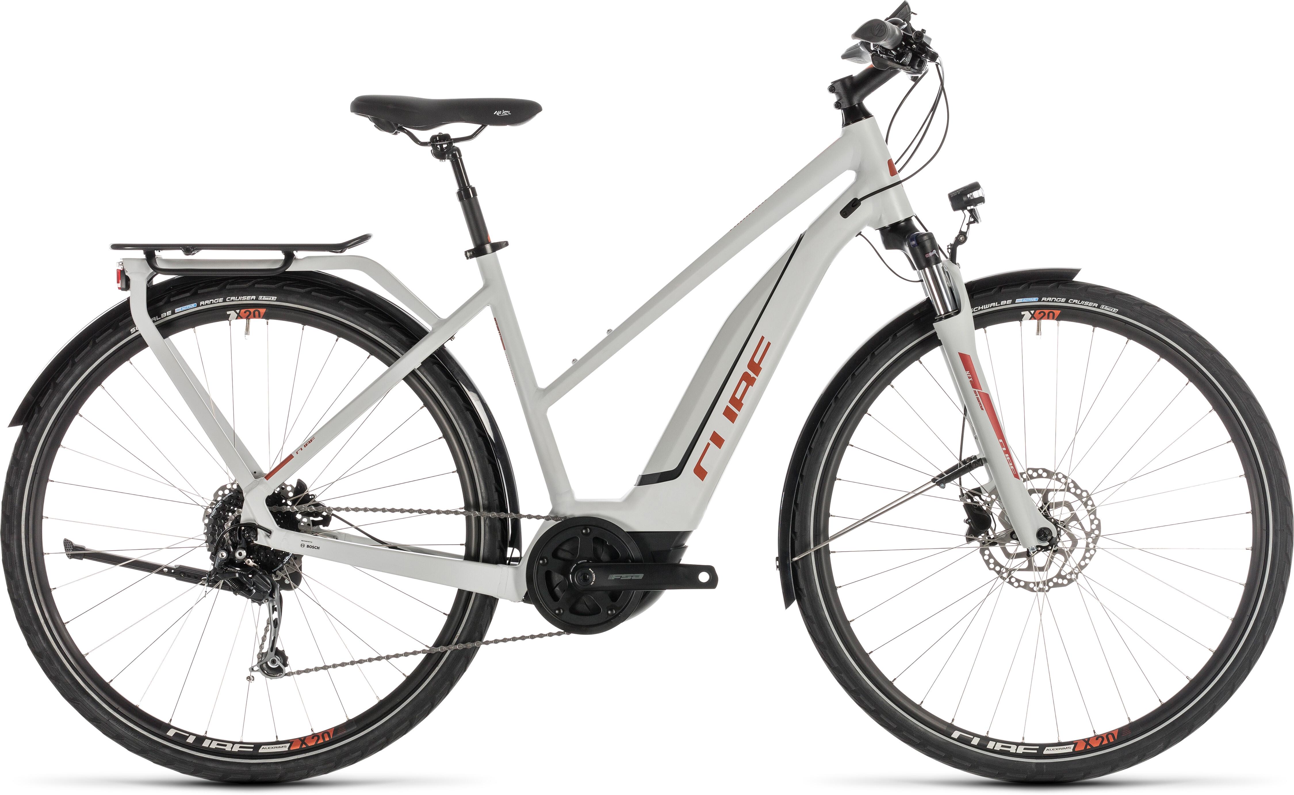 cube touring hybrid 500 e trekking bike trapez grey at. Black Bedroom Furniture Sets. Home Design Ideas